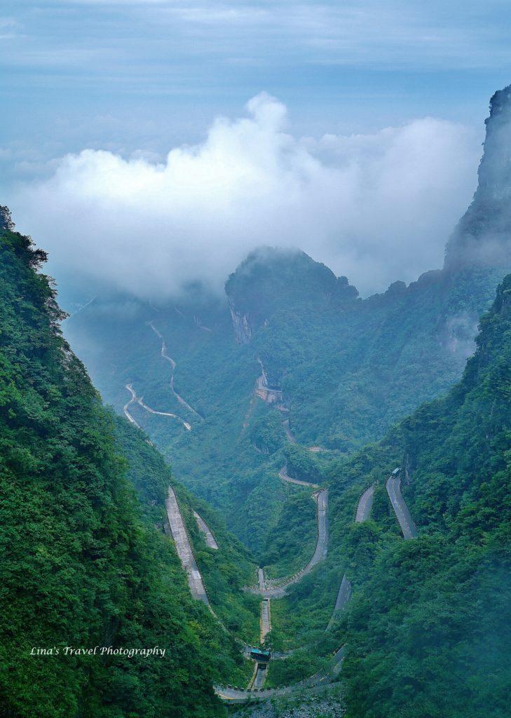 99 Bends of Tianmen Mountain, Heaven's Gate, Zhangjiajie Hunan China