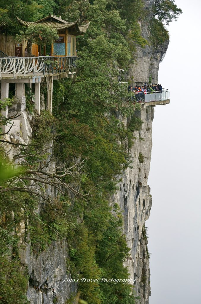 One of many plank roads at Tianmen Mountain altitude 1518,60 m, Zhangjiajie Hunan China