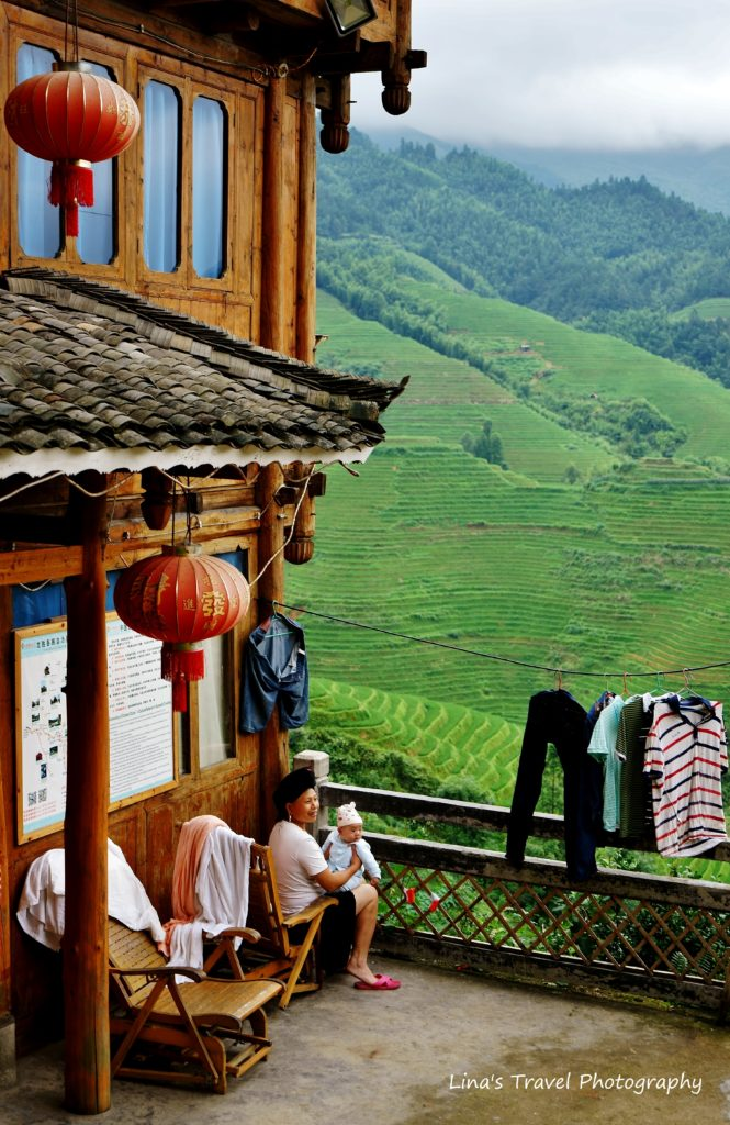 Yao ethnic people in Dazhai Village, Longji Rice Terracces, Guangxi, China